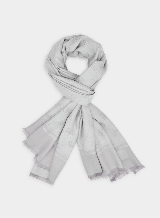 Karl Lagerfeld Paris - Lightweight Scarf, Grey, hi-res