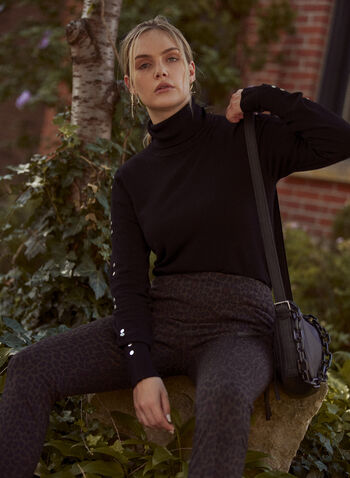 Leopard Print Leggings, Brown,  fall winter 2021, animal print, cheetah print, pull on, pleats, shapewear,