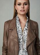 Vex - Faux Leather Jacket, Brown, hi-res