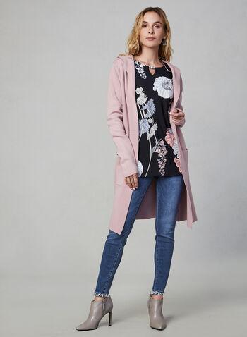 Frank Lyman - Floral Print Top, Black, hi-res,  Canada, Frank Lyman, top, floral, jersey, fall 2019, winter 2019