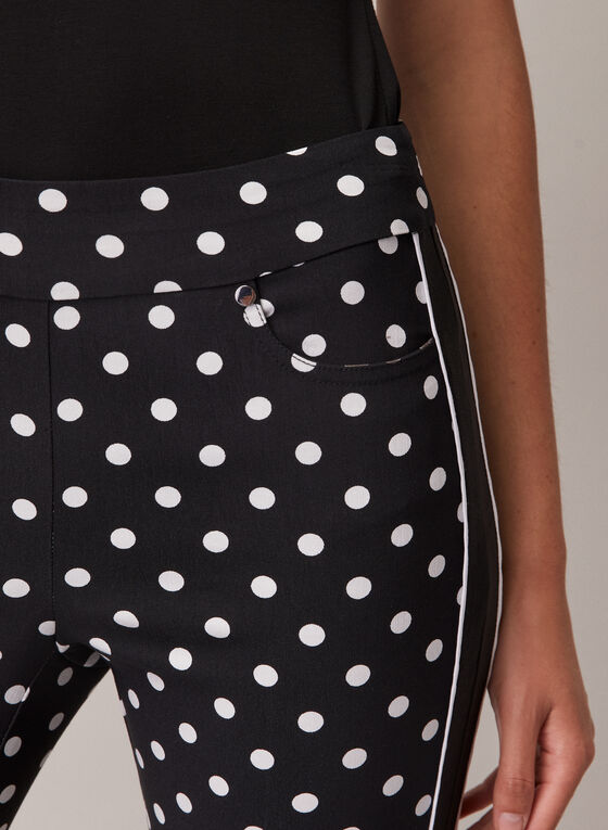 Polka Dot Pull-On Capris, Black