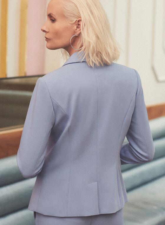 One Button Blazer, Blue