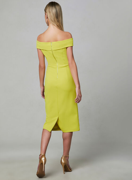 Off-the-Shoulder Dress, Yellow, hi-res