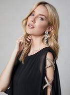 Xscape - Rhinestone Embellished Dress, Black