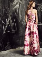 Ignite Evenings - Robe asymétrique satinée à fleurs, Rose, hi-res
