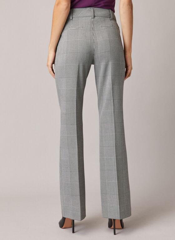 Pantalon large motif prince-de-galles, Noir