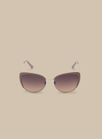 Enamel Contour Sunglasses, Brown,  sunglasses, square, enamel, metal, spring summer 2020