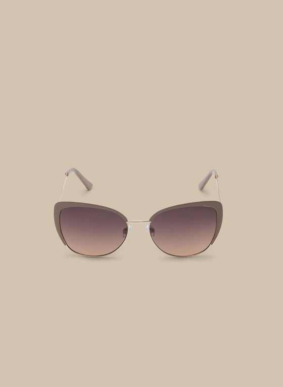 Enamel Contour Sunglasses, Brown