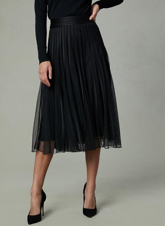 Frank Lyman - Mesh A-Line Skirt, Black, hi-res