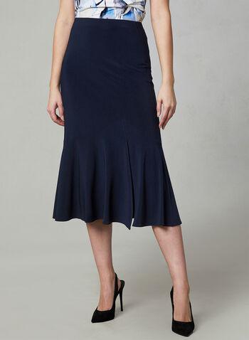 Joseph Ribkoff - Flared Hem Skirt, Blue, hi-res