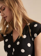Karl Lagerfeld Paris - Polka Dot Print Long Jumpsuit, Black