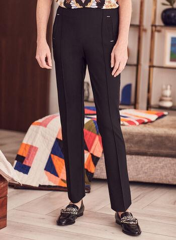 Pantalon Amber étroit à la cheville, Noir,  printemps été 2021, pantalon, Amber, tailleur, jambe étroite, taille haute, bi-stretch