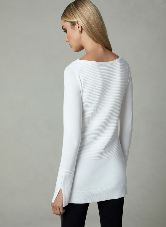 Ottoman Knit Sweater, Off White, hi-res