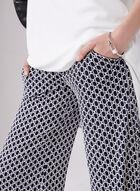 Joseph Ribkoff - Pantalon pull-on imprimé à jambe large, Bleu, hi-res