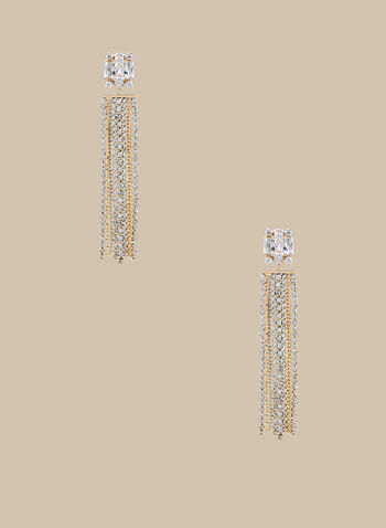 Crystal Cascade Earrings , Gold,  earrings, angle earrings, crystal earrings, metallic earrings, metallic, spring 2020, summer 2020