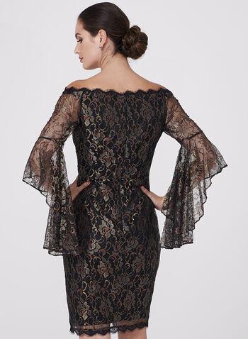 Off The Shoulder Mesh Dress, , hi-res