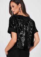 Conrad C - Sequin Velvet Kimono Top, Black, hi-res