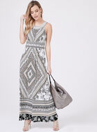 Sandra Darren - Embellished Neckline Maxi Dress, Black, hi-res
