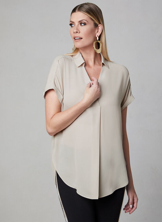 High Low Tunic Blouse, Off White