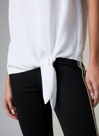 Tie Front Blouse, Off White, hi-res