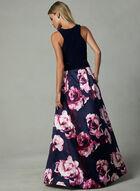 BA Nites - Robe avec jupe fleurie , Bleu, hi-res