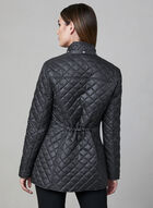 Chillax - Polka Dot Print Coat, Black, hi-res