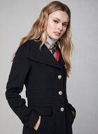 Karl Lagerfeld Paris - Manteau long d'inspiration militaire, Noir