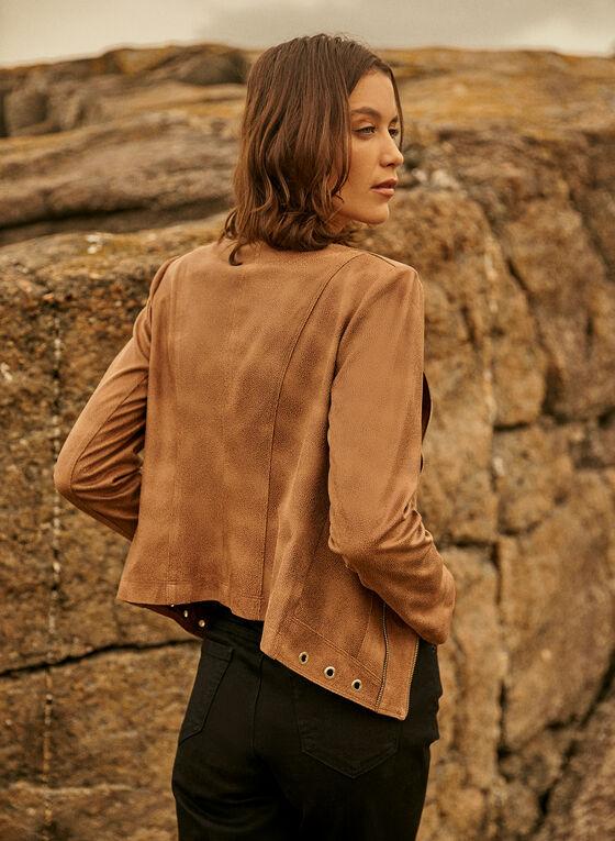 Vex - Zipper Detail Jacket, Beige