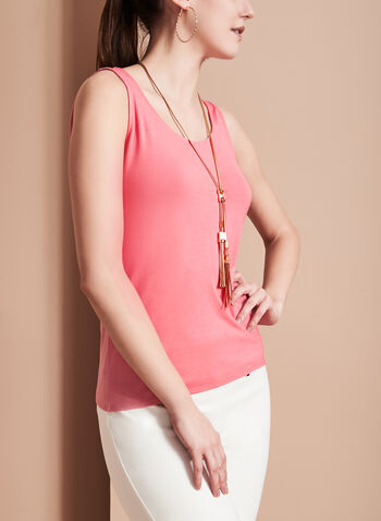 Sleeveless Scoop Neck Cami, Pink, hi-res