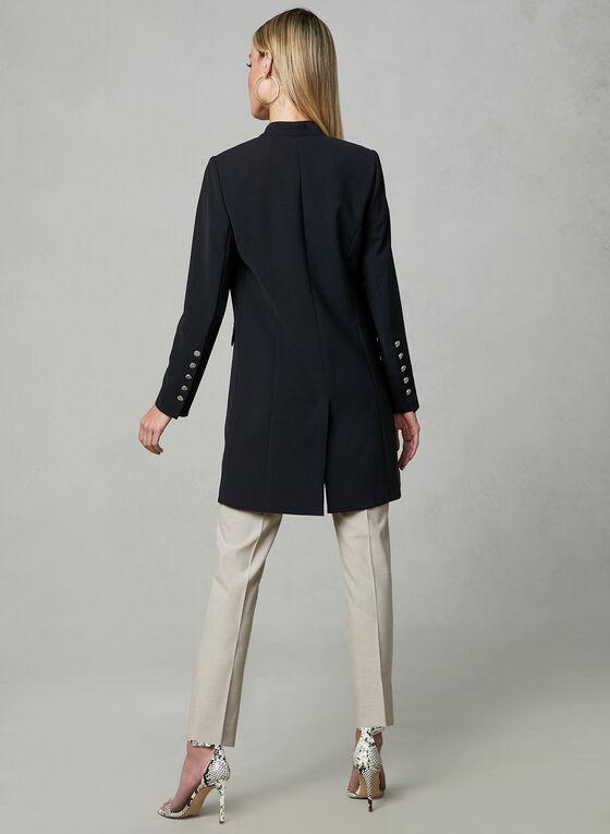 Open Front Redingote Jacket, Black, hi-res