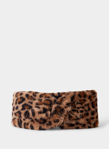 Vince Camuto - Faux Fur Headband, Brown,  headband, faux fur, Vince Camuto, winter 2019
