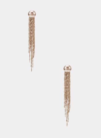 Boucles d'oreilles à cascade de chaînes, Or, hi-res
