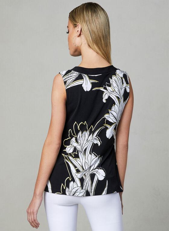 Frank Lyman - Haut à imprimé floral, Noir, hi-res