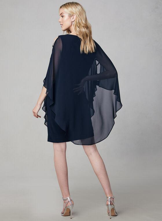 Xscape - Robe en mousseline à détails cristaux, Bleu, hi-res