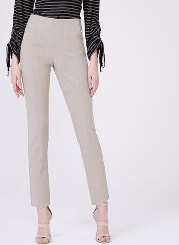 Pantalon Amber longueur cheville à jambe étroite, Blanc cassé, hi-res
