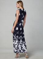 Sandra Darren - Floral Print Maxi Dress, Blue, hi-res