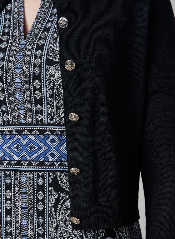 Karl Lagerfeld Paris - Button Up Bolero, Black, hi-res
