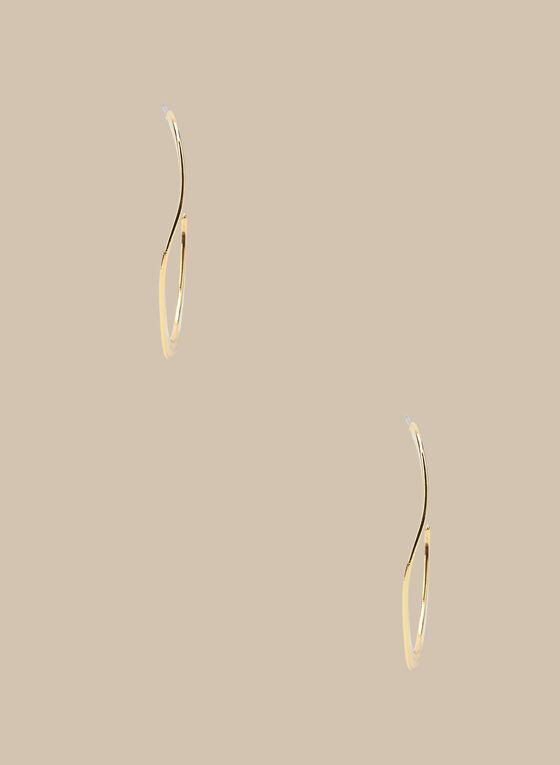 Open Hoop Earrings, Gold