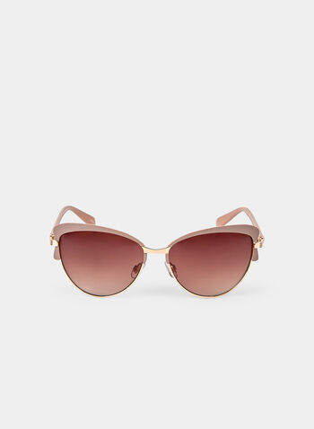 Cat Eye Sunglasses, Brown,  lenses, plastic, gradient, spring 2019