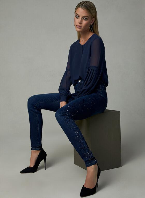 Slim Leg Sculpting Jeans, Blue, hi-res