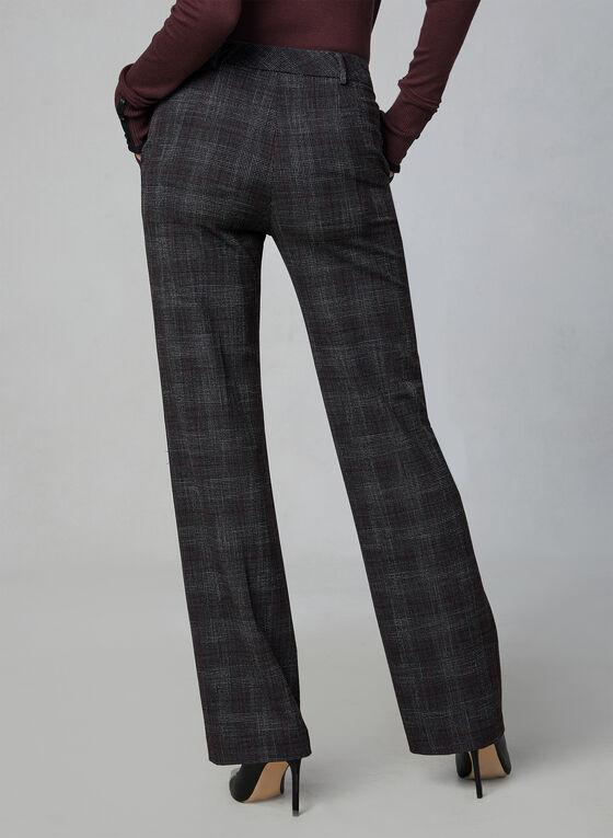 Pantalon à jambe large motif Prince-de-Galles, Gris, hi-res