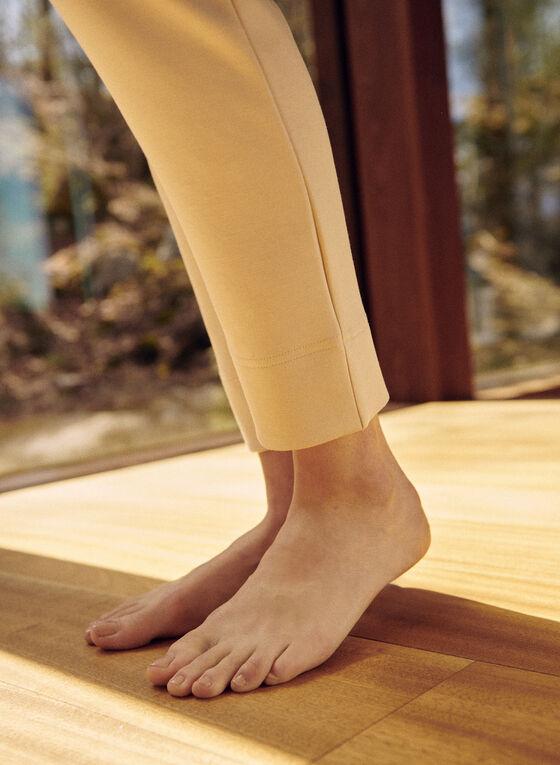 Pantalon de détente à taille élastique, Beige