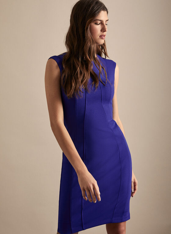 Vince Camuto - Cap Sleeve Sheath Dress, Blue