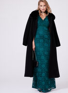 Mallia - Fur Trimmed Cashmere Blend Long Coat, Black, hi-res