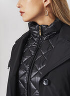 Hooded Trench Coat With Removable Vest, Black, hi-res
