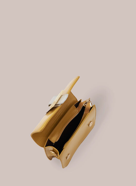 Two-Toned Rectangle Clutch , Gold