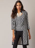 Joseph Ribkoff - Chain Print Top & Cardigan, Black