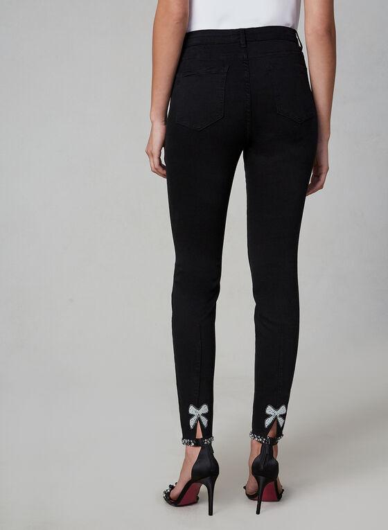 Frank Lyman - Jeans à ourlet perlé , Noir