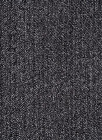 Foulard oblong à chevrons, Gris, hi-res,  foulard, oblong, chevrons, automne hiver 2019