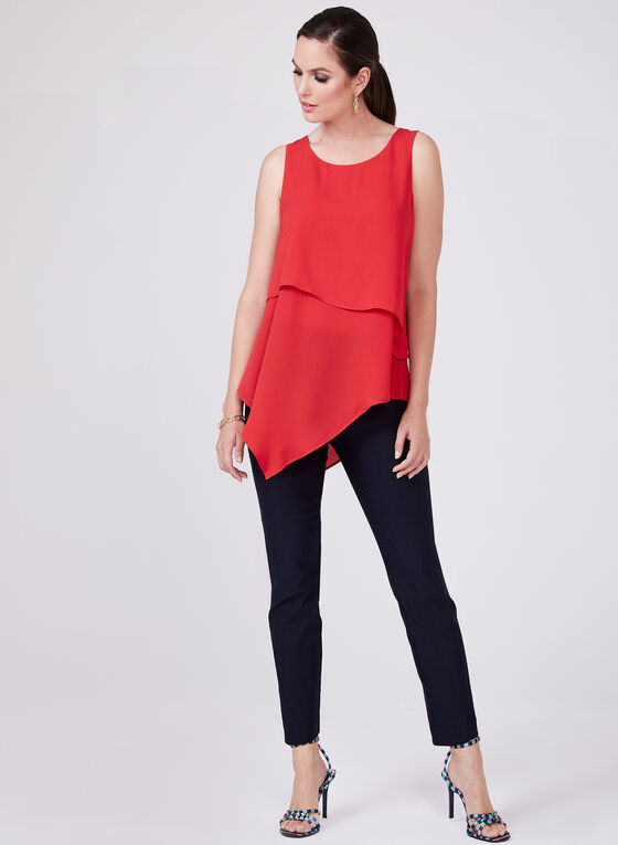 Conrad C -  Layered Sleeveless Top, Orange, hi-res